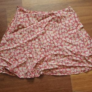 Light pink floral skirt